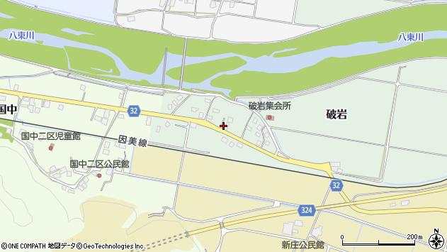〒680-0474 鳥取県八頭郡八頭町破岩の地図