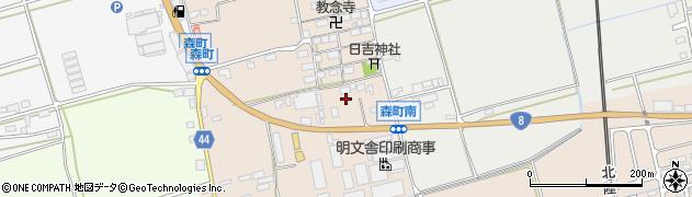 滋賀県長浜市森町周辺の地図