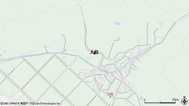 〒667-0111 兵庫県養父市大薮の地図