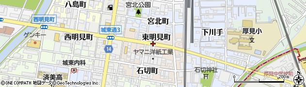 岐阜県岐阜市東明見町周辺の地図