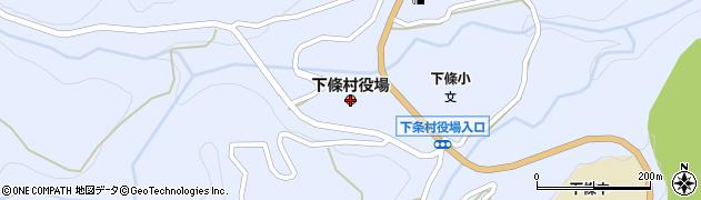 長野県下條村(下伊那郡)周辺の地図