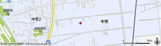 千葉県木更津市中里周辺の地図