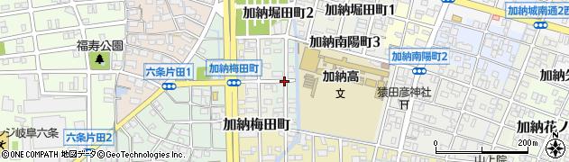 岐阜県岐阜市加納立花町周辺の地図