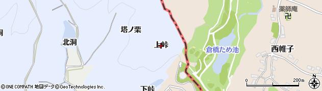愛知県犬山市善師野(上峠)周辺の地図