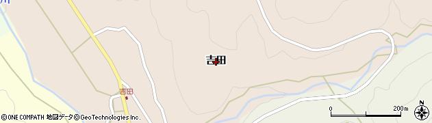 鳥取県三朝町(東伯郡)吉田周辺の地図