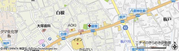 貞晃寺周辺の地図
