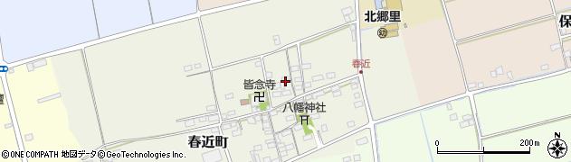滋賀県長浜市春近町周辺の地図