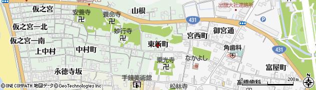 島根県出雲市大社町杵築北(東新町)周辺の地図