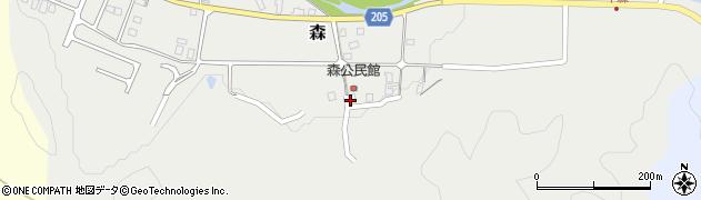 鳥取県三朝町(東伯郡)森周辺の地図