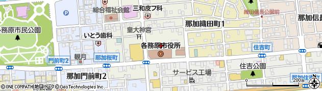 岐阜県各務原市周辺の地図