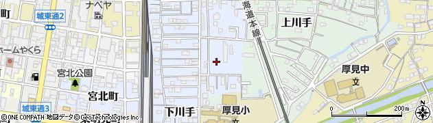 岐阜県岐阜市下川手周辺の地図