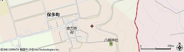 滋賀県長浜市保多町周辺の地図