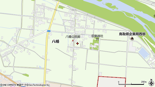 〒683-0012 鳥取県米子市八幡の地図