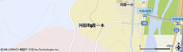 鳥取県鳥取市河原町渡一木周辺の地図