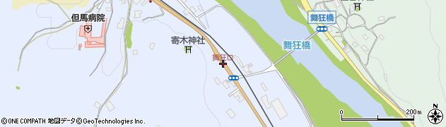 舞狂口周辺の地図