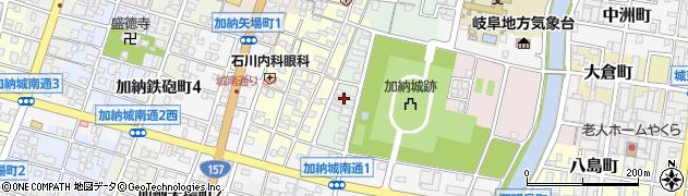 岐阜県岐阜市加納西丸町周辺の地図