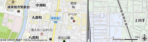 岐阜県岐阜市若杉町周辺の地図