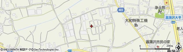 神奈川県藤沢市菖蒲沢周辺の地図