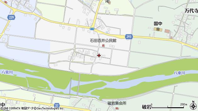 〒680-0454 鳥取県八頭郡八頭町石田百井の地図
