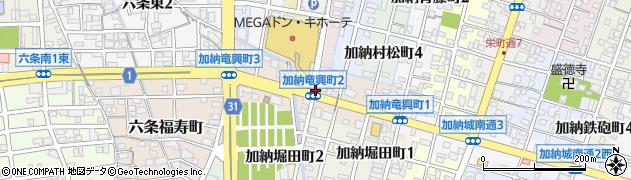 岐阜県岐阜市加納竜興町周辺の地図