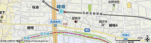 誓賢寺周辺の地図