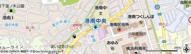 神奈川県横浜市港南区周辺の地図