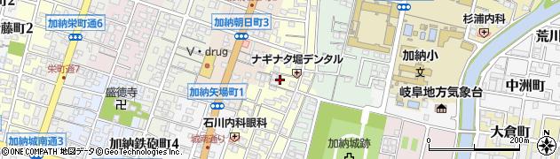 岐阜県岐阜市加納長刀堀周辺の地図