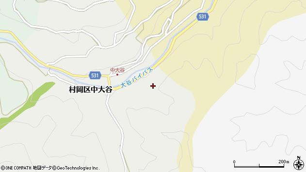 〒667-1343 兵庫県美方郡香美町村岡区中大谷の地図