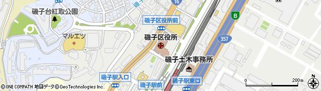 神奈川県横浜市磯子区周辺の地図