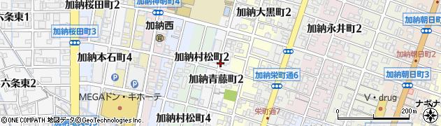 岐阜県岐阜市加納青藤町周辺の地図