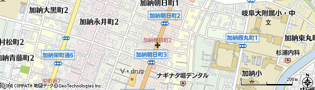 岐阜県岐阜市加納朝日町周辺の地図