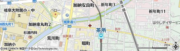 岐阜県岐阜市加納八幡町周辺の地図