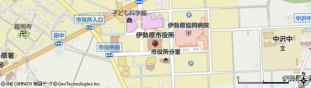 神奈川県伊勢原市周辺の地図