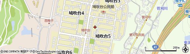 岐阜県可児市鳩吹台周辺の地図