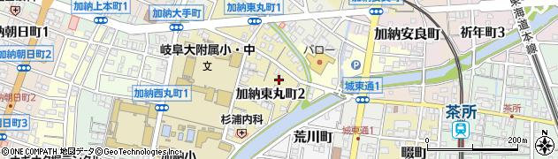 岐阜県岐阜市加納東丸町周辺の地図