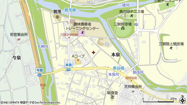 〒682-0152 鳥取県東伯郡三朝町本泉の地図