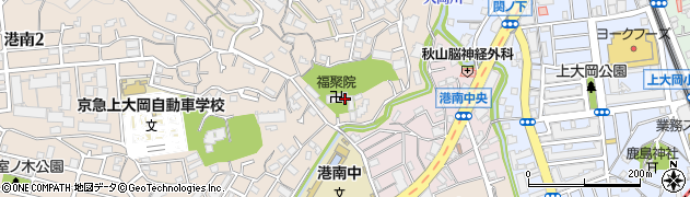 福聚院周辺の地図