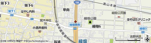 岐阜県岐阜市細畑(佃)周辺の地図