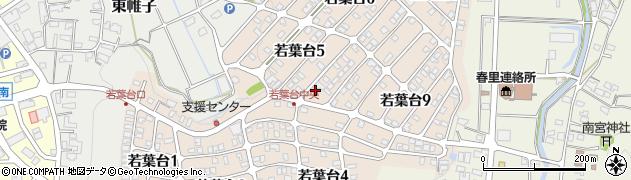 岐阜県可児市若葉台周辺の地図
