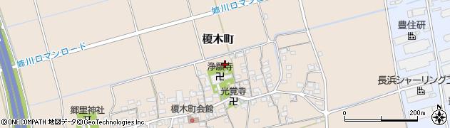 滋賀県長浜市榎木町周辺の地図