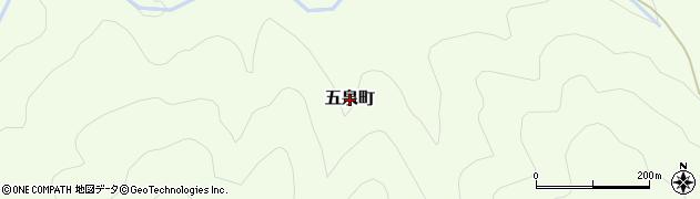 京都府綾部市五泉町周辺の地図