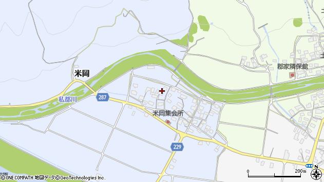 〒680-0456 鳥取県八頭郡八頭町米岡の地図