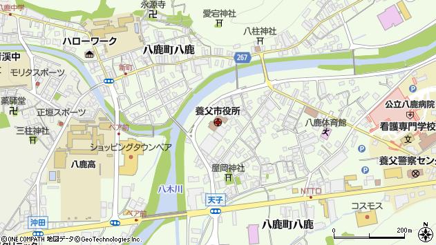 〒667-0000 兵庫県養父市(以下に掲載がない場合)の地図