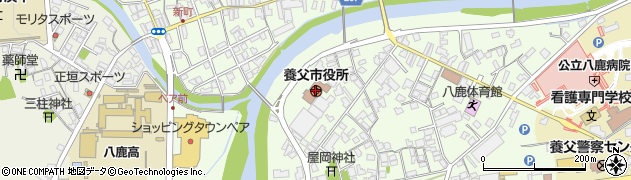 兵庫県養父市周辺の地図