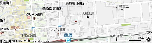 岐阜県各務原市蘇原興亜町周辺の地図