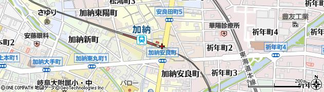 岐阜県岐阜市竜田町周辺の地図