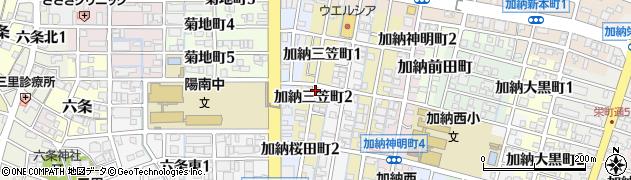 岐阜県岐阜市加納三笠町周辺の地図