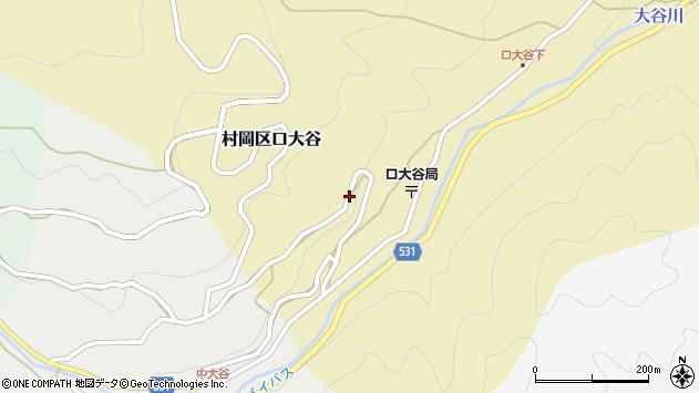 〒667-1342 兵庫県美方郡香美町村岡区口大谷の地図