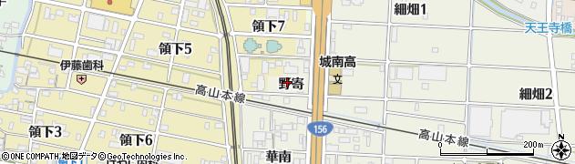 岐阜県岐阜市細畑(野寄)周辺の地図