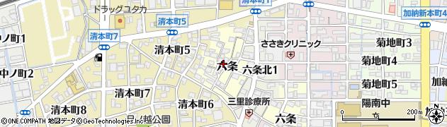 岐阜県岐阜市六条周辺の地図